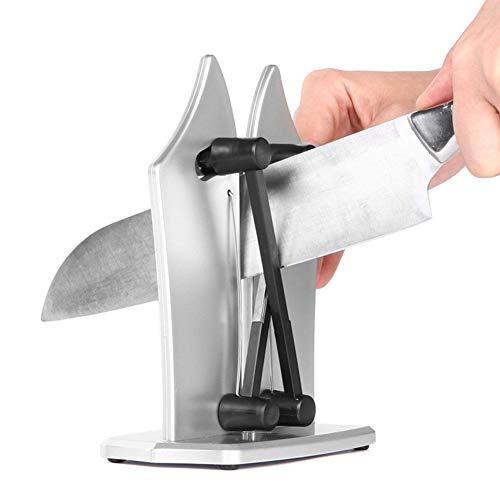 Zxlife@ affilacoltelli professionale come visto in tv - portatile in carburo di tungsteno di tripla azione coltelli smussati e standard cucina manuale temperamatite