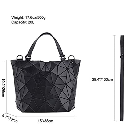 4110neHZi2L. SS416  - VBIGER Bolso Geométrico Bolso de Hombro Mujer Estilo Shopper Bolso de Mano Mujer Nergo (Negro)