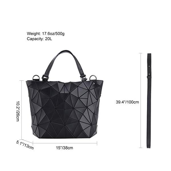 4110neHZi2L. SS600  - VBIGER Bolso Geométrico Mujer Bolso de Hombro Mujer Estilo Shopper Bolso de Mano Nergo (Negro)
