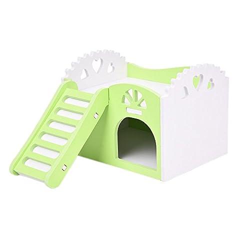 Lit Superposés en bois d'escalade jouet avec escalier pour rat Hamster Lapin