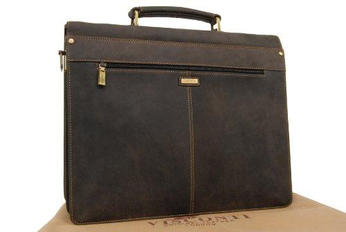"""Visconti abschließbare Aktentasche """"Apollo"""" - Leder (16038) Größe: B: 39,5 cm, H: 30 cm, T: 19 cm Öl Braun"""