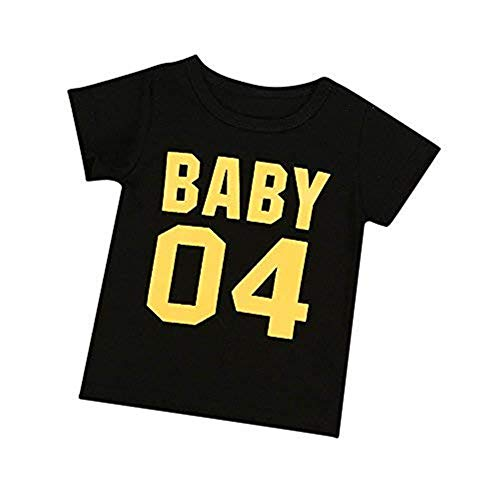 Storerine Familien-neugeborenes Baby-Mädchen-Kurzarm T-Shirt Outfits-Kleidung Familie Frauen Herren Sommer Rundhals Brief Druck Kurzarm Bluse Tops (Outfits Jordan Baby-air)