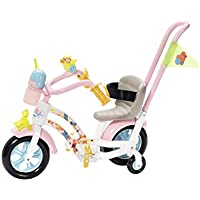 BABY born Play&Fun Bike Juego de bicicleta para muñecas - Accesorios para muñecas (Juego de bicicleta para muñecas, 3 año(s), Multicolor, 43 cm, 1 Asiento(s), Chica)