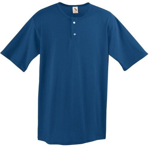Augusta sportiva da uomo a due pulsanti BASEBALL JERSEY, taglia XL, colore: blu NAVY