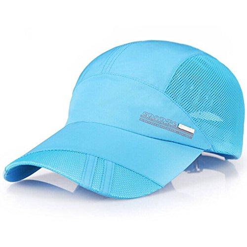 Cap Trucker Cap schnelltrocknende Summer Hut Baseball Kappe Mütze Caps Atmungsaktiv Basecap Verstellbar Sonnenschutz Hut für Sport und Freizeit,BLAU (Camo Armee Hut Für Erwachsene)