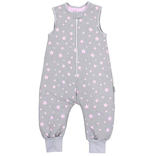 TupTam Baby Unisex Winter Schlafsack mit Beinen, Farbe: Sterne Rosa/Grau, Größe: 116-122