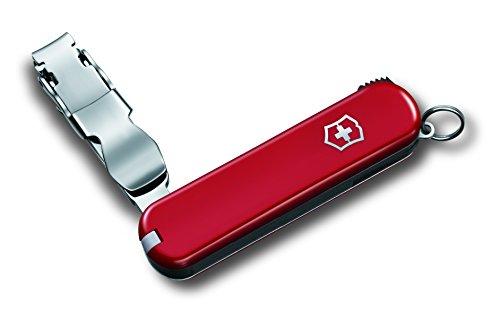 Victorinox Taschenmesser Nail Clip 582 (4 Funktionen, Nagelknipser, Pinzette, Lebenslange Garantie) rot B1