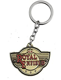 GCT Royal Enfield Motorcycles RE Logo Metal Keychain | Keyring | Key Ring | Key Chain For Your Bike Keys | Men...