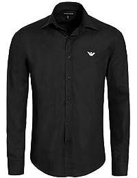 Emporio Armani - Chemise noire pour homme