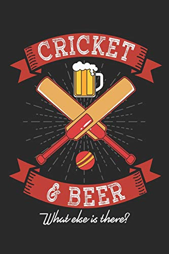 My best beers: Notebook for Brewers, Beer and Cricket Lovers