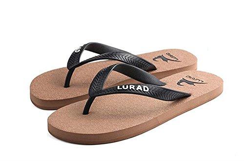 ALUK- Sommer Sandalen - Herren Füße Tragen Tragen Trend Einfache Strand Cool Pantoffeln ( Farbe : Braun , größe : 43 )