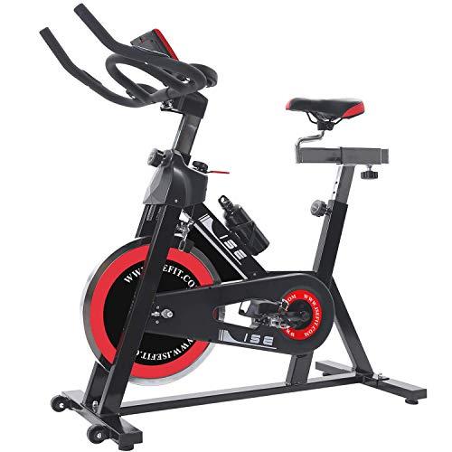 ISE Indoor Cycle Ergometer Heimtrainer mit Pulsmesser,LCD...