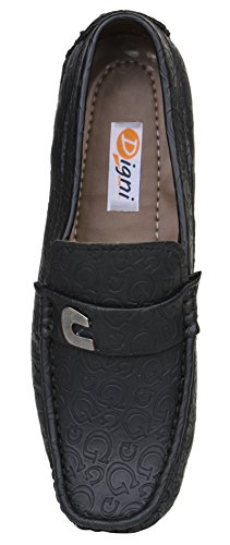 Digni Mocassins Hommes Slip On Chaussures Casual Lazy Flats Shoes Mocassins confortables Noir