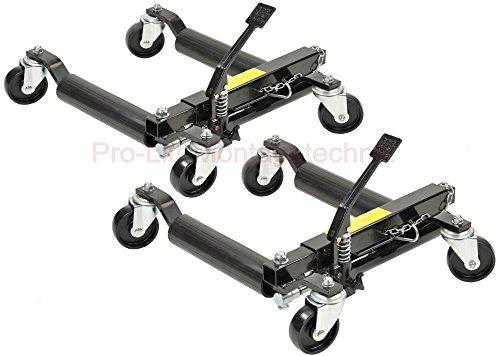 Pro-Lift-Montagetechnik 2 Stück Rangierhilfen hydraulisch, je 680 kg Tragkraft, schwarz, T, 00941