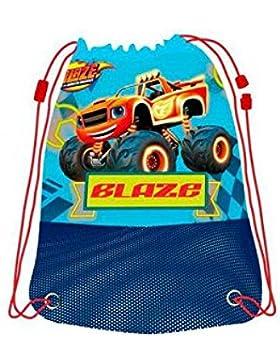 BLAZE AND THE MONSTER MACHINE Zaino di stringa tipo sacchetto con funi