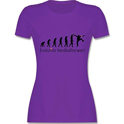 Evolution - Handballtorwart Evolution - tailliertes Premium T-Shirt mit Rundhalsausschnitt für Damen Lila