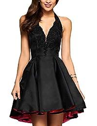 Damen A-Linie Perlen Applique Abendkleider Kurze Heimkehr Kleider Formale Party  Kleider dd3fa34973
