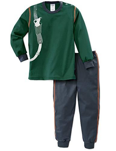 Calida Baby-Jungen Toddlers Hiking Zweiteiliger Schlafanzug, Grün (Jasper Green 578), 104/110 (Herstellergröße:104)