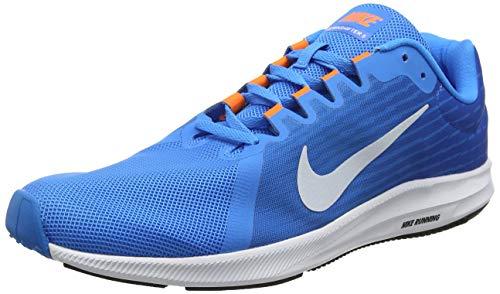 Nike Herren Downshifter 8 Laufschuhe Mehrfarbig (Blue Hero/Football Grey/Cobalt Blaze 403) 45 EU