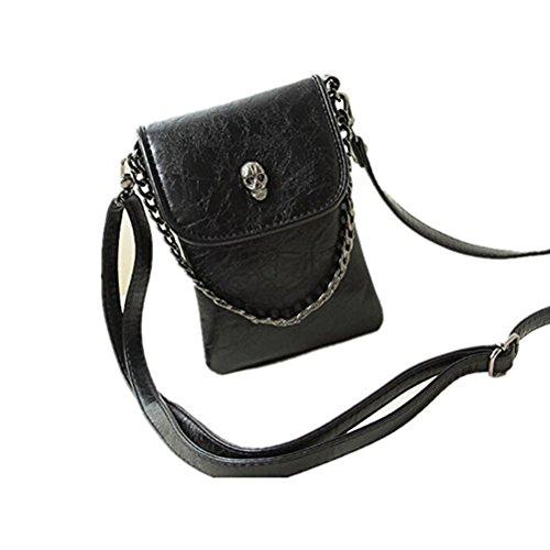 LUOEM Mini Handytasche Geldbörse Umhängetasche PU Leder für iPhone 6S / 6S Plus