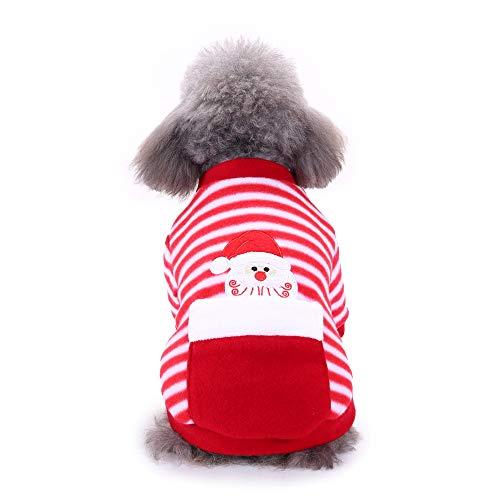 OHQ Hunde T Shirt,Weihnachten Haustier Hund Welpen Hoodie Pullover warme Weihnachtsbaum Muster Kleidung