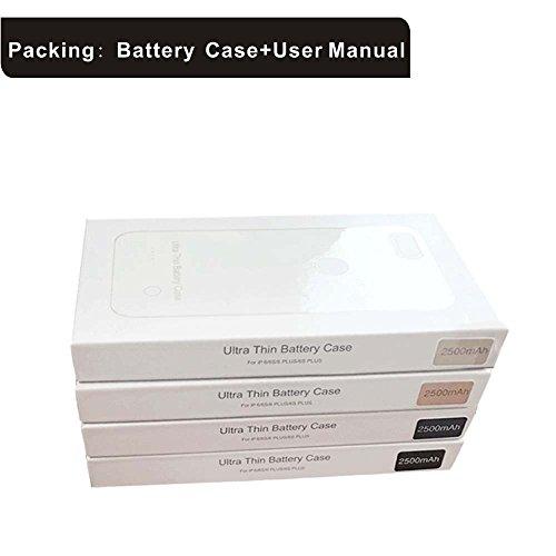 Roop iPhone 6 /6s nuova custodia ultra slim di ricarica con batteria ad alta capacità per iPhone 6 /6s (4.7  Blue) Black