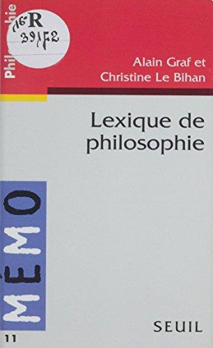 Lexique de philosophie (Memo)