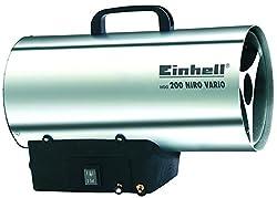 Einhell Heißluftgenerator HGG 200 Niro Vario (Propangasbetrieben, max. 20 kW, Piezozündung, thermostatische Schutzvorrichtung, Rückbrandsicherung)