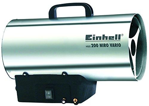 Einhell Heißluftgenerator HGG 200 Niro Vario (Propangasbetrieben, max. 20 kW, Piezozündung, thermostatische Schutzvorrichtung, Rückbrandsicherung) -