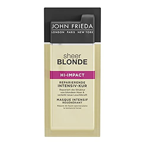 John Frieda Sheer Blonde Hi-Impact Reparierende Intensiv-Kur Sachet, 4er Pack (4 x 25 ml)