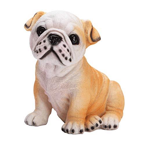 Healifty Bulldog Sparschwein Münze Bank Bulldog Harz geformt niedlichen Geldhalter Spartopf (21x18x20cm) -