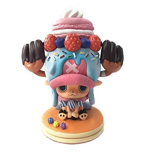 QINGLI One Piece Tony Chopper 11cm Action-Figur-Kuchen-Nachtisch Chopper-Figur Dekoration Modell Anime-Charakter Kinder Puppe Souvenir-Sammlung Cake Dessert Chopper