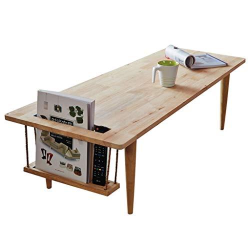 Xing Hua home Tisch Massivholz Couchtisch Tisch Tee Tisch Wohnzimmer Sofa Beistelltisch niedrigen Tisch Schlafzimmer Nachttisch Couchtisch (Color : Wood Color, Size : 120 * 50 * 34.5cm) -