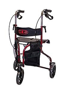 Antar 14131Delta Gehrad Three Wheeled Rollator with Detachable Case