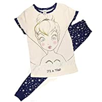 TDP PJ Ladies Character Pyjamas Choose from Super Woman Tinkerbell Eeyore Marvel Heroes Minnie Mouse (16-18 Ladies, Tinkerbell)