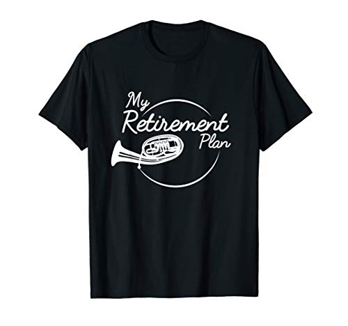 Tenorhorn Ruhestand Rente Blasmusik Musiker T-Shirt