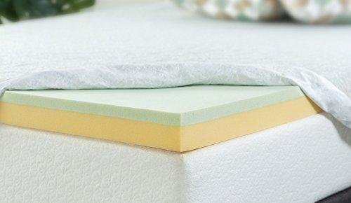Zinus 5,1cm grün Tee Memory Foam Matratzenauflage, Queen, 3 Inch, King Size -