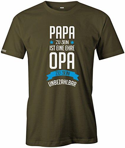Papa zu sein ist eine Ehre - Opa zu sein unbezahlbar - Herren T-Shirt