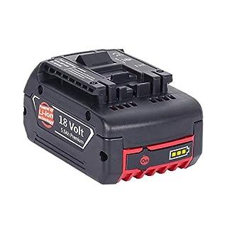 Dosctt 5500mAh Akku Für Bosch 18V 5.5Ah Lithium-Ionen-Akku Werkzeug Batterie BAT620 BAT621 BAT622 BAT609 BAT618 DDB181-02 Neue Version mit LED-Anzeige