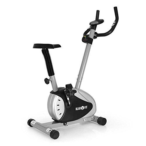 Klarfit MOBI-Basic-20 • Ergometer • Heimtrainer • Fitness-Bike • Cardio-Bike • mit Trainingscomputer • integrierter Pulsmesser • 8-stufig verstellbarer Widerstand • 6 kg Schwungrad mit magnetischem Bremssystem • bis max. 100kg Körpergewicht • silber-schwarz