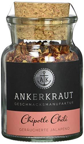 Ankerkraut Chipotle Chili, 55g im Korkenglas, geräucherte Jalapeno Chili zum Schärfen & Verfeinern (Jalapeno-pulver)
