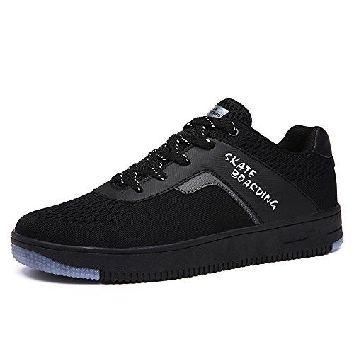 Homme Femme Baskets Basses Mode Chaussures de Sport Running Skateboard Sneakers Noir Blanc Rouge Noir
