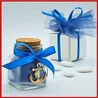 Tarro para dulces para confettate de cristal de forma cuadrada con tapón de corcho tipo libro