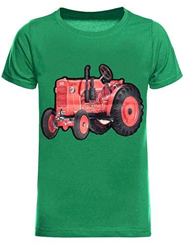 BEZLIT Kinder T-Shirt Jungen Shirt Kurzarm T-Shirts LED Licht Effekt 30034 Grün 104