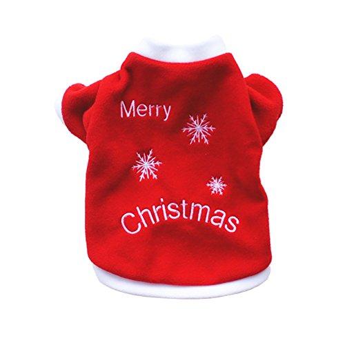 iTemer Haustierkleidung Puppy Pullover Weihnachten Schneeflocken Muster gestickt Kleider - Schneeflocke Pullover Kleid