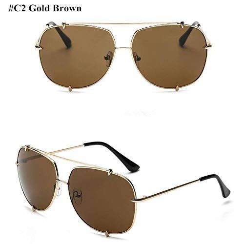 CCGKWW Mode Übergroße Pilot Sonnenbrille Frauen Uv400 Retro Markendesigner Big Frame Sonnenbrille Für Weibliche Damen Brillen