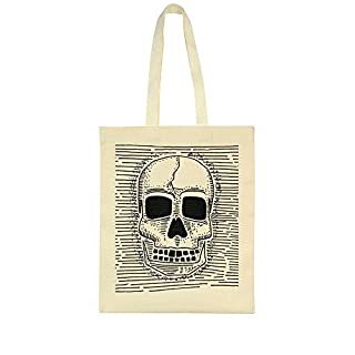 idcommerce Human Skull Between Lines Design Tote Bag