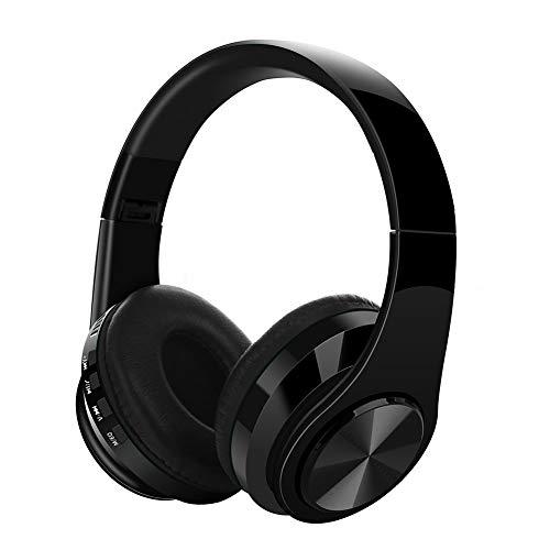 JYL Bluetooth Headset Headset V5.0 Wireless-Karte Sportklappcomputer Headset Anruffunktionen Mikrofonkompatibel iPhone iPad und die meisten Android-Handys,B (Tür Noise Cancelling)