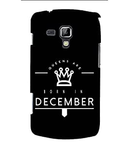 YuBingo Samsung Galaxy S Duos S7562 Designer Phone Back Case Cover ( Queens Are Born in December )