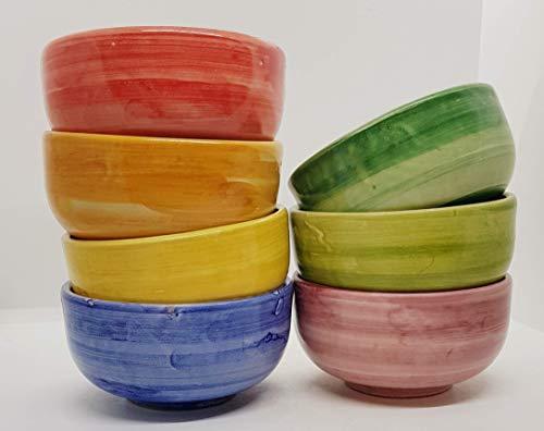 Ciotola Tazza Ceramica Realizzata e dipinta a mano Le Ceramiche del Castello Made in Italy dimensioni 12,5 x 12,5 x 6 centimetri